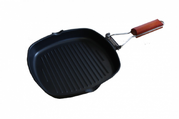 SunnCamp Griddle Pan Compact Folding Handle for Caravan Camping Campervan